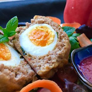 thai-scotch-eggs-with-super-fress-plum-sauce