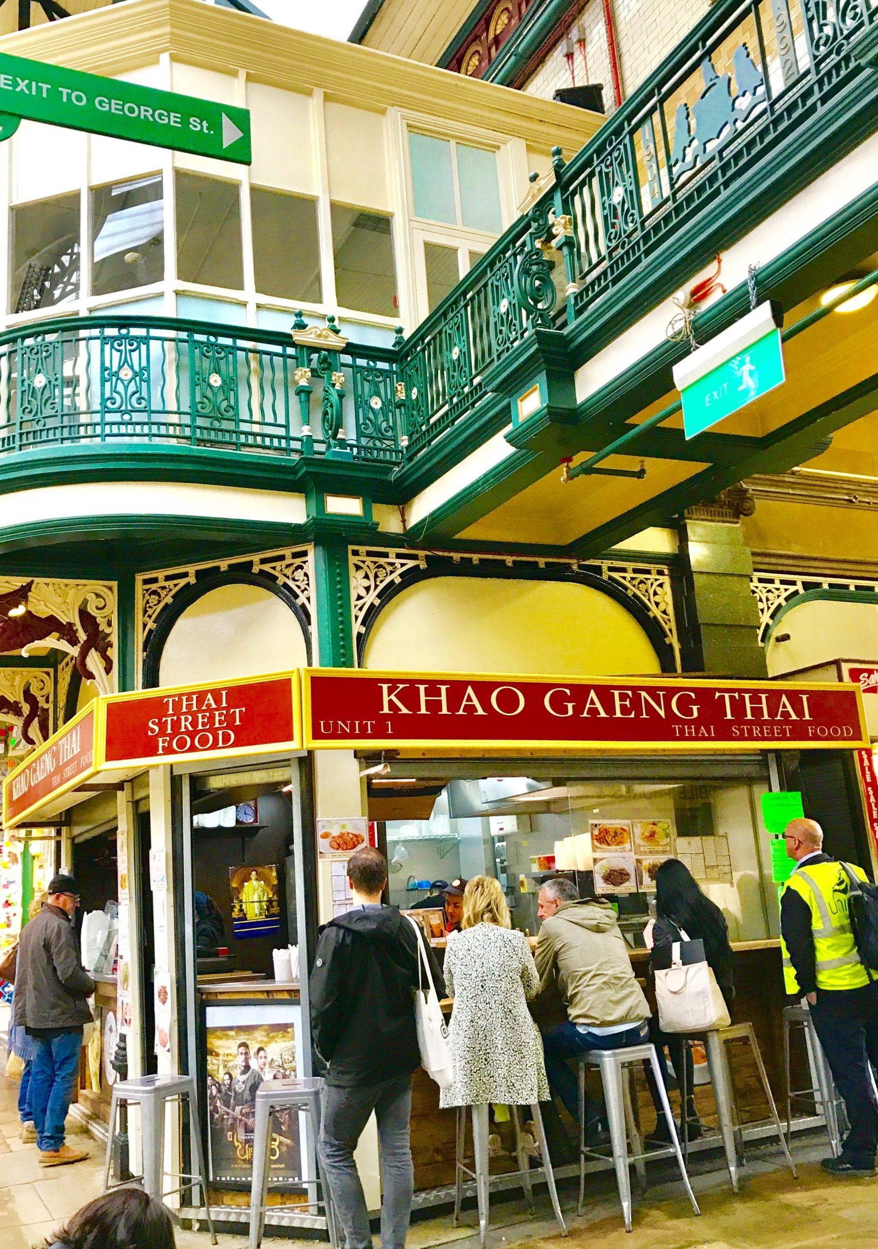 Thai food stall in Kirkgate Market Leeds