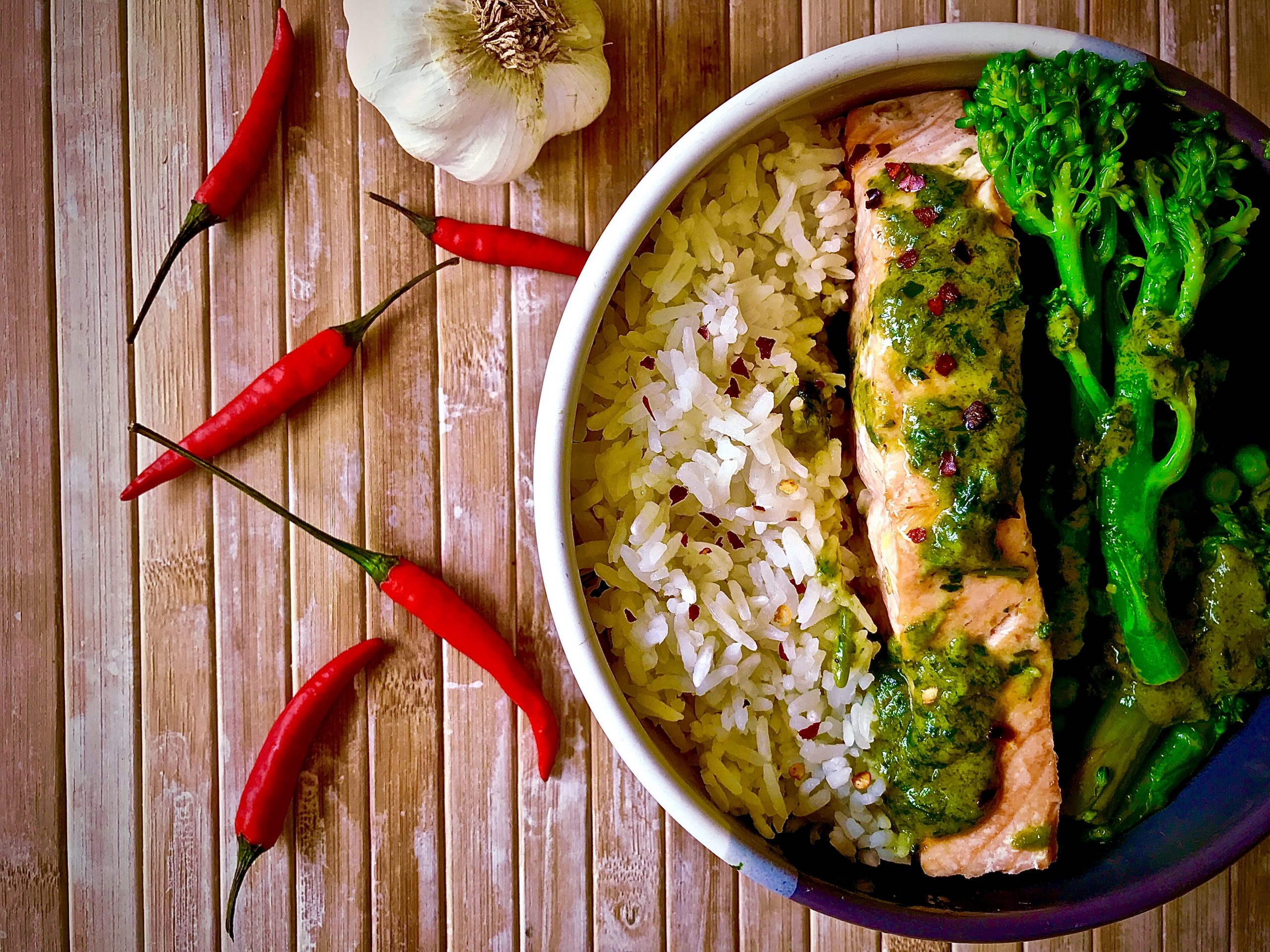 Salmon Thai Green Curry