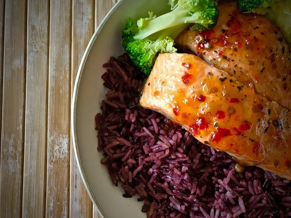 Salmon in Sweet Chilli Sauce