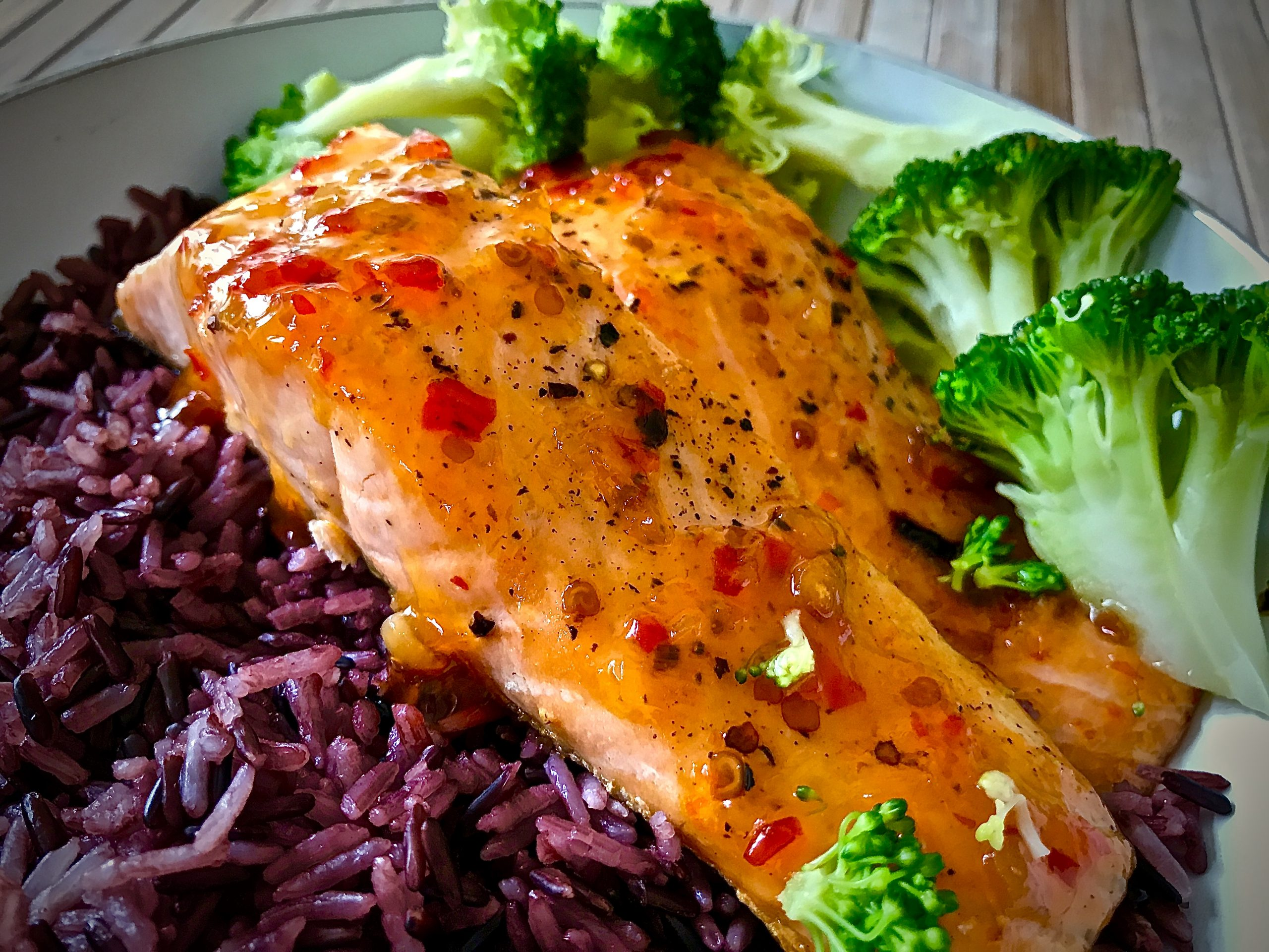 Salmon with Sweet Chilli Sauce