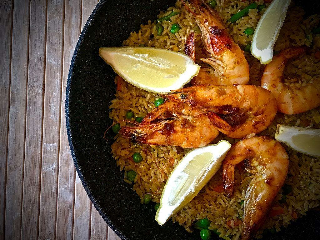 Sweet and Zesty Prawns Fried Rice