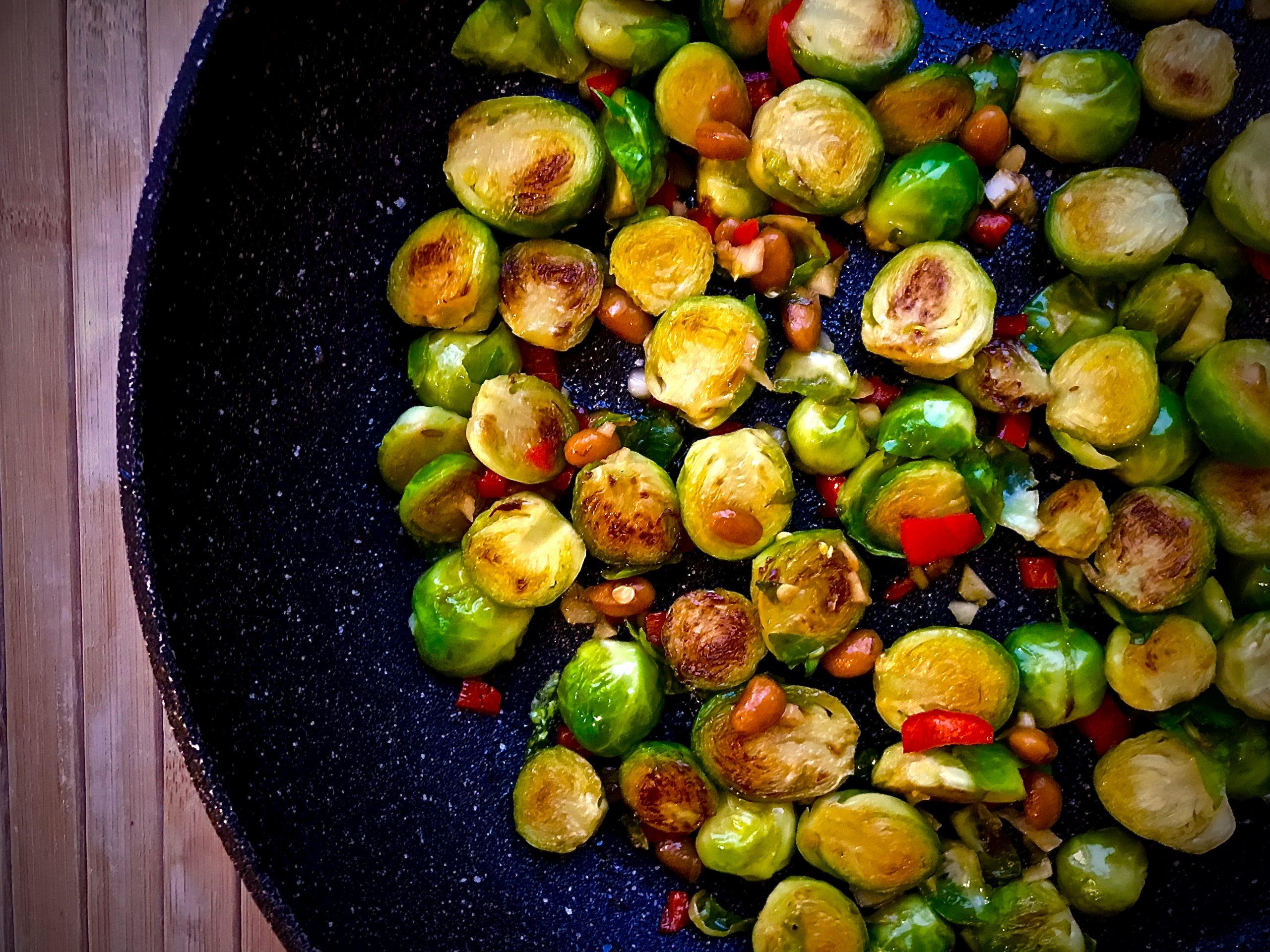 Brussels Sprouts in Soya Bean Paste