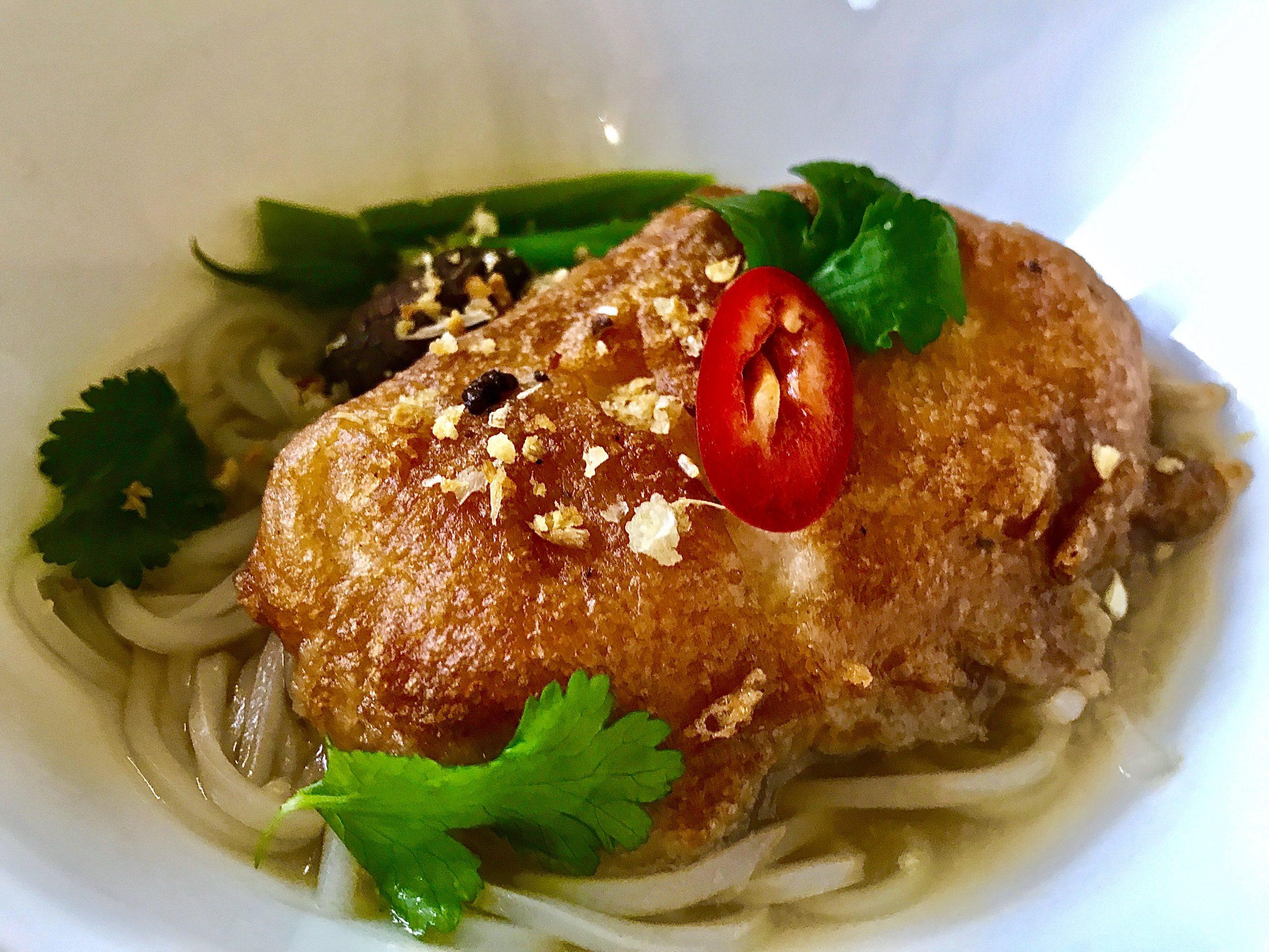 Tofu Tempura Noodles Soup