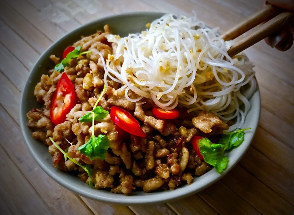 Chinese Style Pork with Rice Noodles