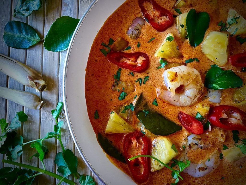 Pineapple and Prawn Curry