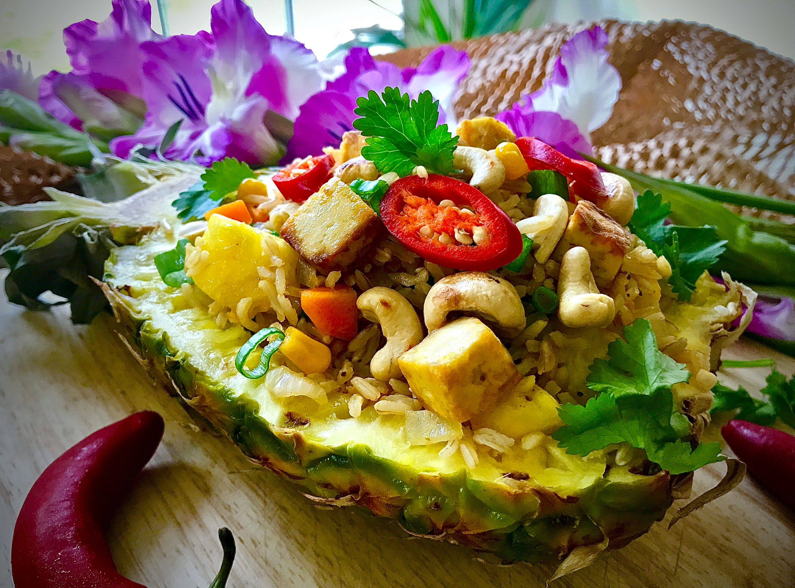Pineapple Fried Rice (Vegan)