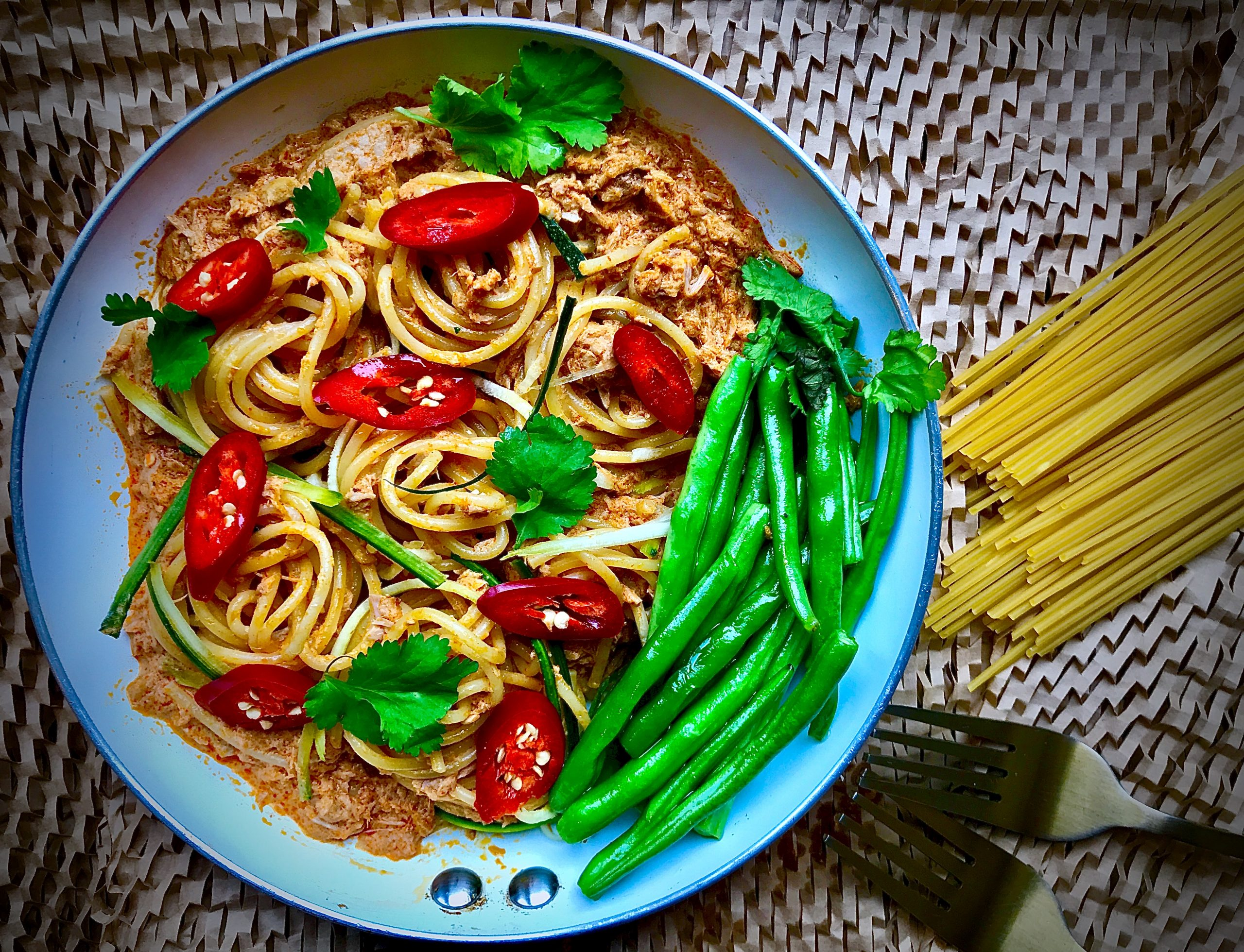 Curry Tuna Spaghetti