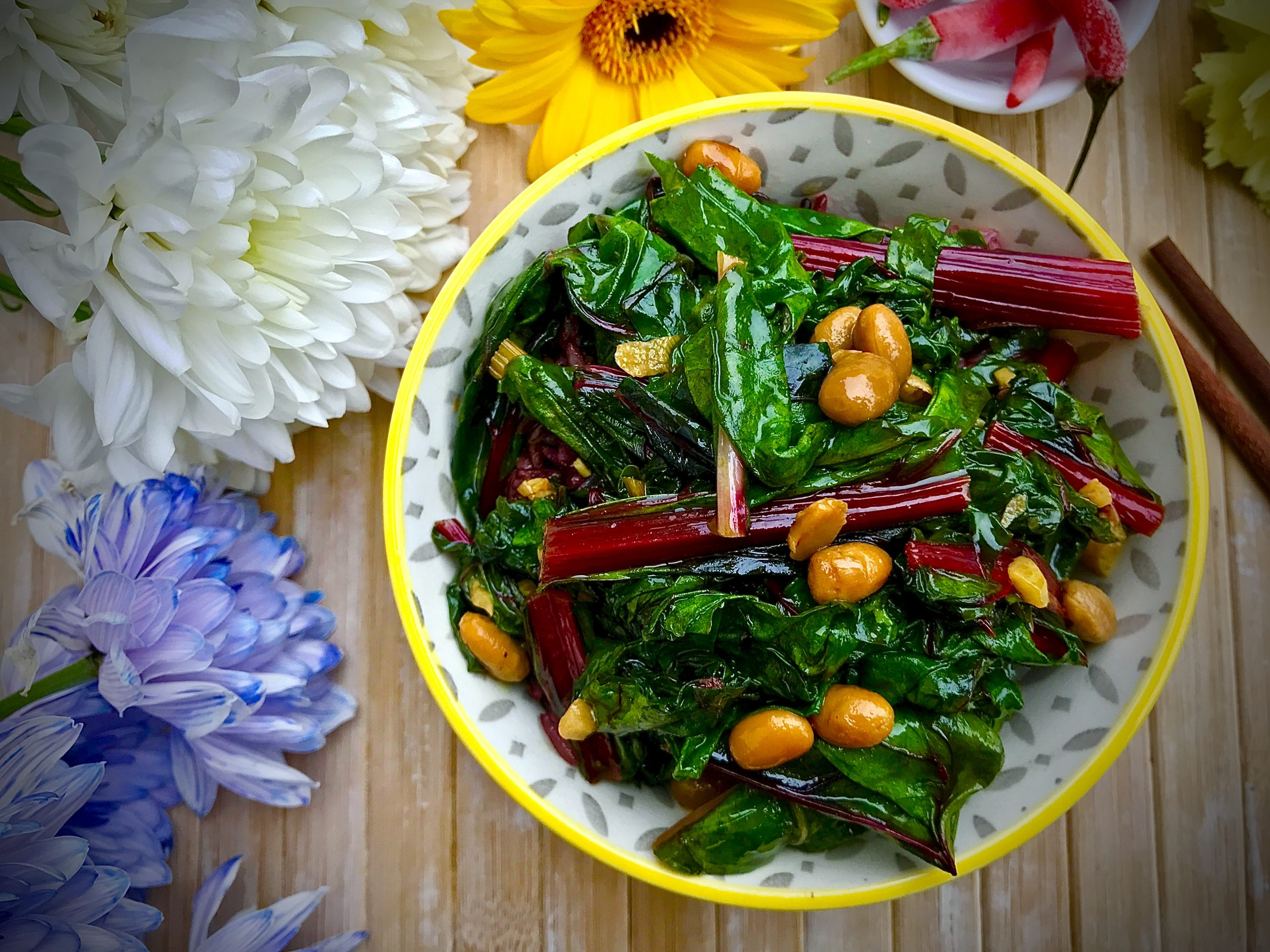 Chard Stir-Fry with Chilli