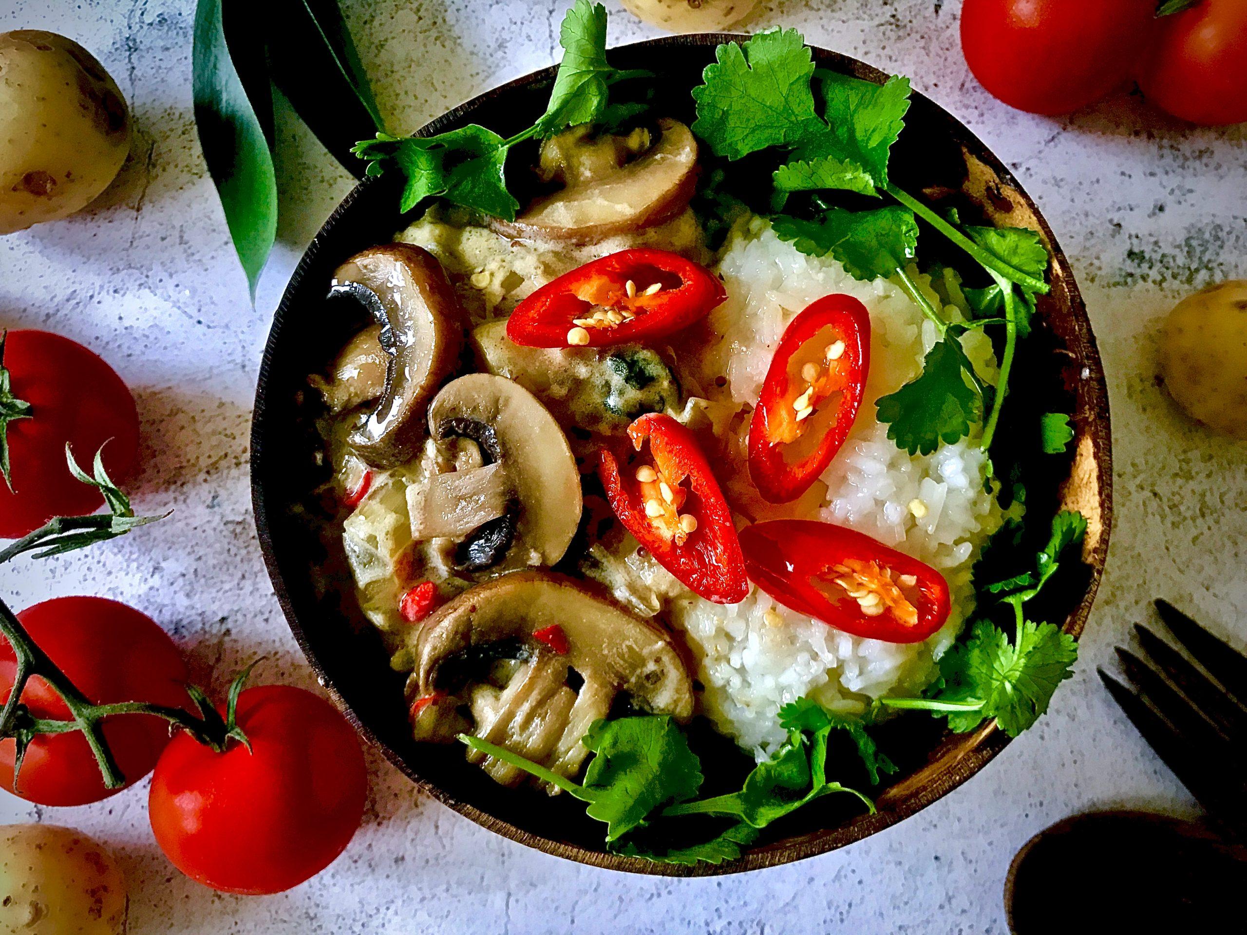 Mushroom and Chilli Stroganoff