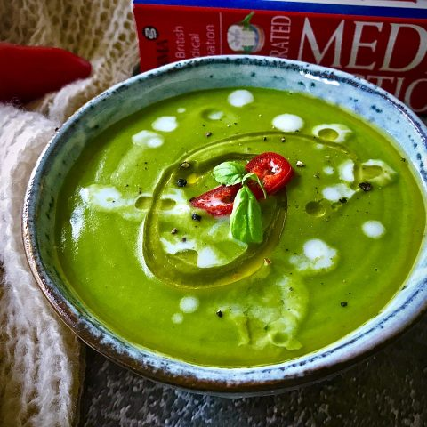 Thai Green Curry Pea Soup