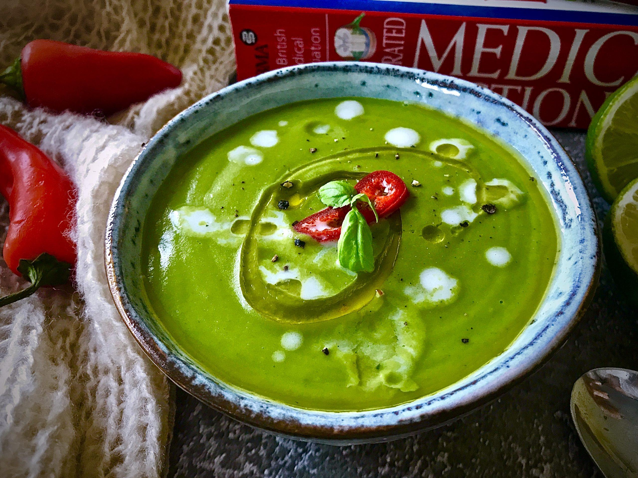 Thai Green Curry Pea Soup